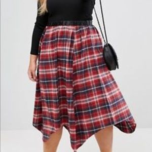 Brand new! Plaid skirt.
